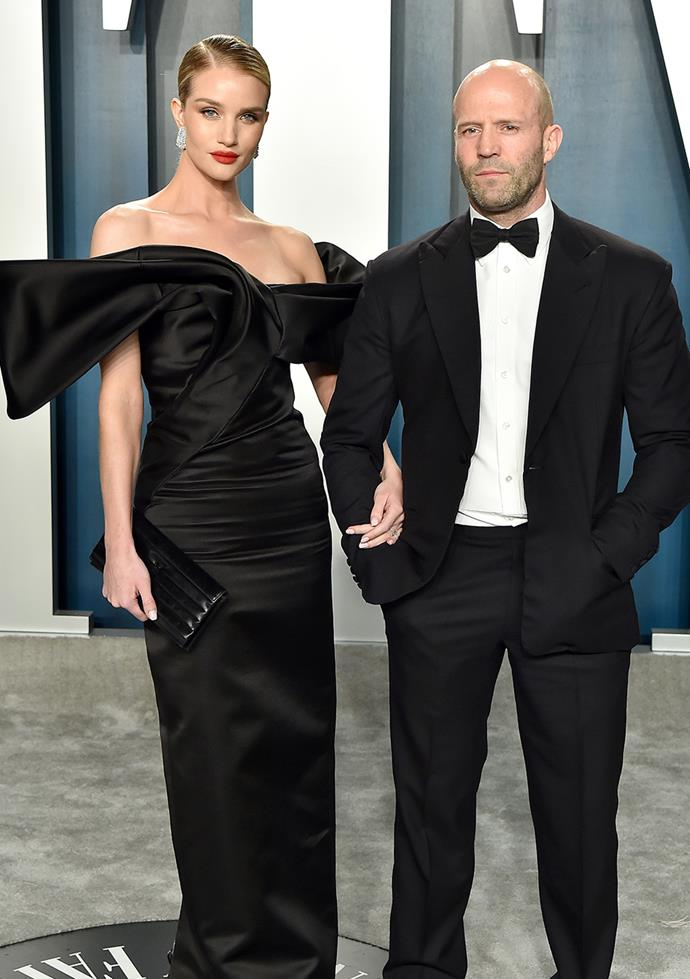 "**Rosie Huntington-Whiteley and Jason Statham** <br><br> The couple first started dating in 2010, where they were spotted at Coachella music festival. ""We're best mates. He makes me laugh every day. I almost feel like I never had a proper boyfriend before!"", Rosie said to *Self magazine* of the romance, she also opened up to *ELLE* saying, ""one of the most beautiful things is that I feel at home wherever I am in the world because of him."""