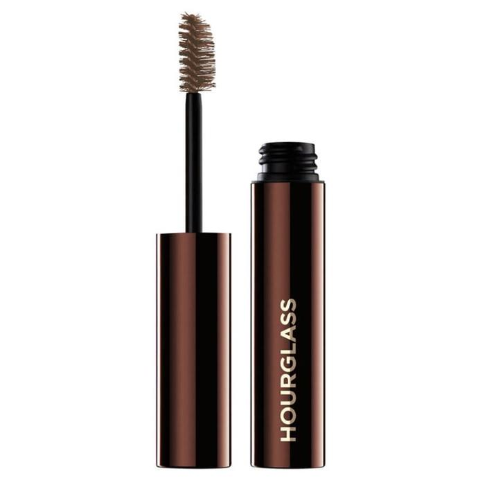 "**Brows** <br><br> Admitting she never leaves the house without her brows groomed, the supermodel praises this gel formula for making her brows appear fuller and brushed up, without looking overly-done. <br><br> *Arch Brow Volumising Fiber Gel by Hourglass, $45 at [MECCA](https://www.mecca.com.au/hourglass/arch-brow-volumizing-fiber-gel-blonde/I-031532.html?gclid=Cj0KCQjwit_8BRCoARIsAIx3Rj5YwI-MoeqNYhNOh8U92H8AHX_7lIPguptKoweX6gfh6k9N3btbzrEaAqSKEALw_wcB&gclsrc=aw.ds|target=""_blank""