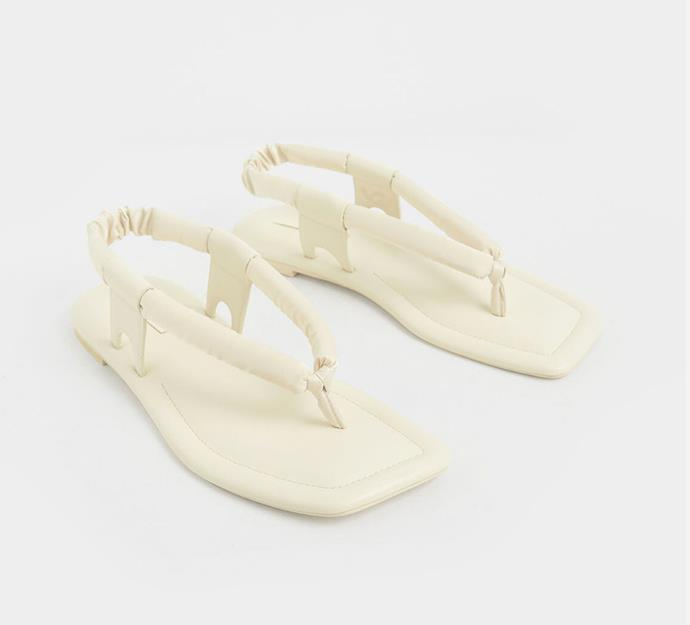 """'Puffy Strap Thong Sandals', $73 at [Charles and Keith](https://www.charleskeith.com/au/CK1-70060529_CREAM.html