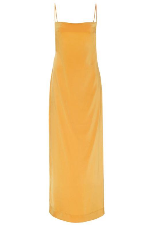 """*Dress code: Cocktail* <br><br> Phoebe Slip in Marigold, $470 by [Paris Georgia](https://shop.parisgeorgiastore.com/collections/all-products/products/ss20-phoebe-slip