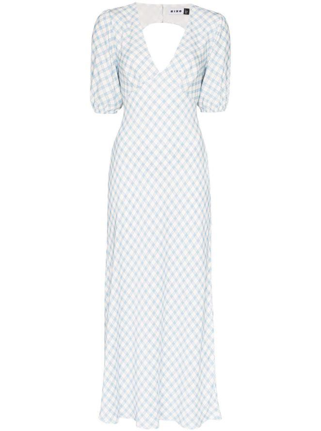 "*Dress code: Casual* <br><br> Steph Gingham Dress by Rixo, $292 at [Farfetch](https://www.farfetch.com/au/shopping/women/rixo-steph-gingham-dress-item-15122697.aspx?storeid=9359|target=""_blank""|rel=""nofollow"")."