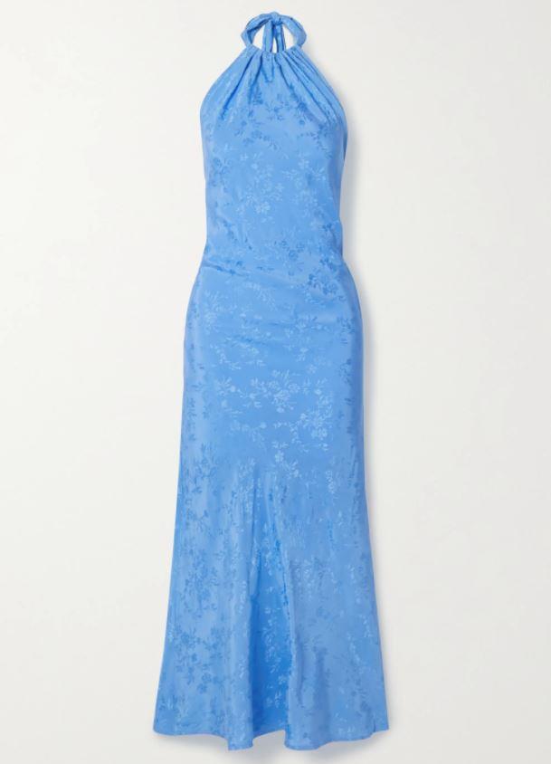 "*Dress code: Cocktail* <br><br> Belle Satin-Jacquard Maxi Dress by The Line By K, $436 at [Net-A-Porter](https://www.net-a-porter.com/en-au/shop/product/the-line-by-k/belle-satin-jacquard-halterneck-maxi-dress/1238912|target=""_blank""|rel=""nofollow"")."