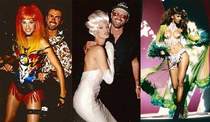 **'Too Funky' by George Michael (1992)** <br><br> Featuring a wardrobe of exclusively Thierry Mugler-designed pieces, as well as an army of supermodels (i.e. Linda Evangelista, Nadja Auermann, Eva Herzigova, and a fresh-faced Tyra Banks), the fashion world universally agrees that 'Too Funky' is one of the most stylish music videos ever. <br><br> ***Watch a clip from the video below.***