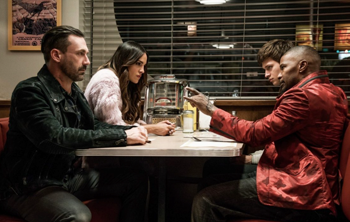 ***Baby Driver* (2017)** <br><br> Baby (Ansel Elgort) is a gifted driver whose skills have landed him employed as a getaway driver by a calculating boss, Doc (Kevin Spacey). After falling for Debora (Lily James), Baby decides to get out of the game after one last job, but, naturally, things go awry and a wild chase ensues.