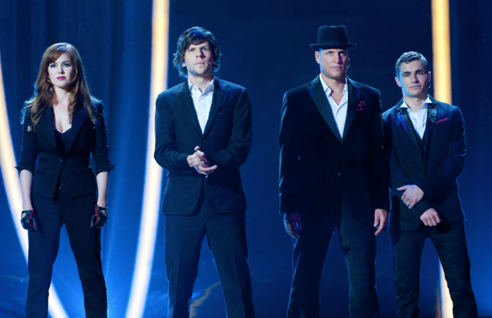 ***Now You See Me* (2013)** <br><br> Four street magicians use their show-stopping tricks to somehow pull off elaborate robberies. But with a pissed-off millionaire, Interpol, and the FBI hot on their tails, how are they going to pull of their grand finale? The twists and turns in this thrilling heist flick make it worthy of a watch.