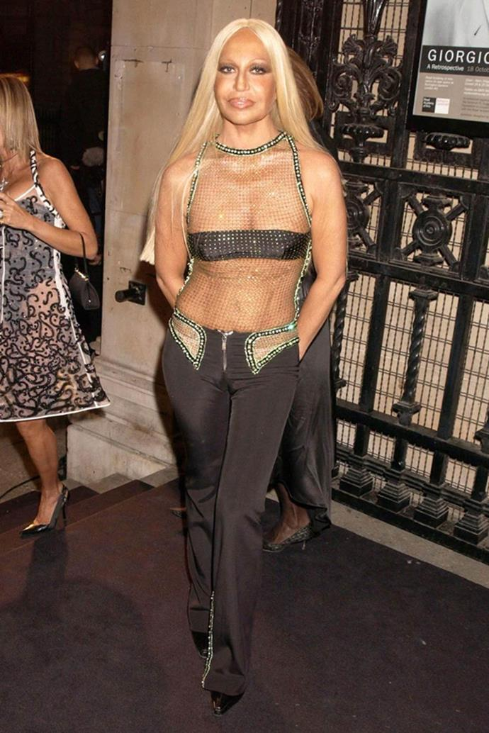 Donatella Versace in 2003.