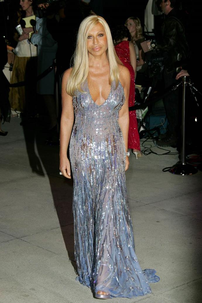 Donatella Versace in 2005.