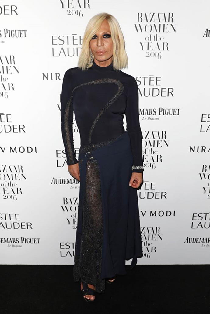 Donatella Versace in 2016.