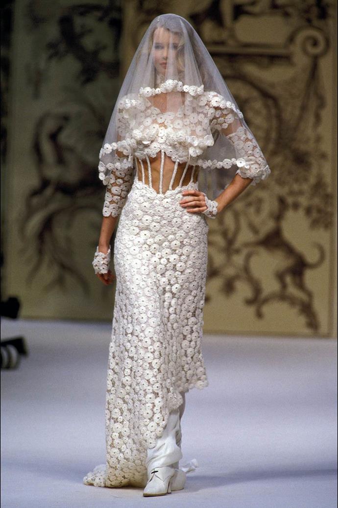 Claudia Schiffer at Chanel Haute Couture autumn/winter '93.