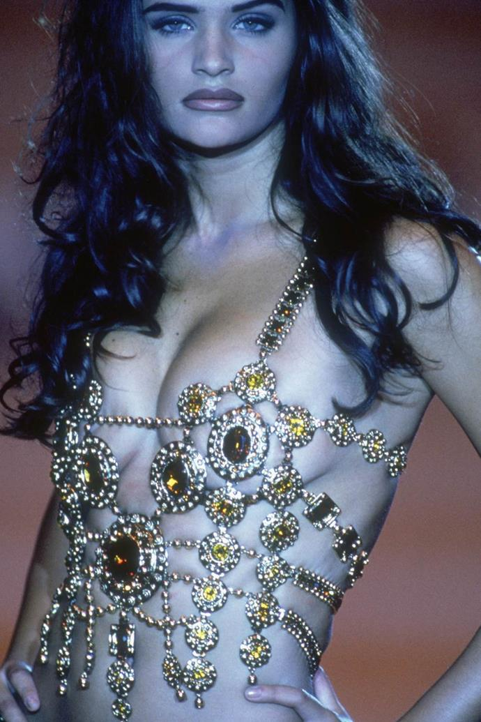 Helena Christensen at Versace spring/summer '92.