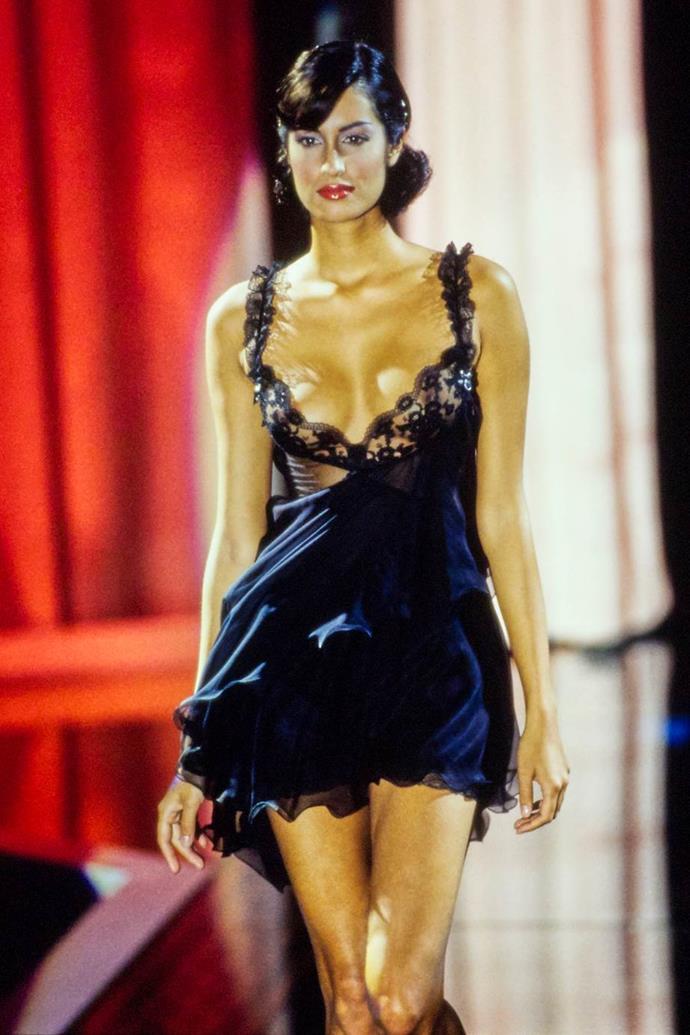 Yasmeen Ghauri at Versace spring/summer '95.