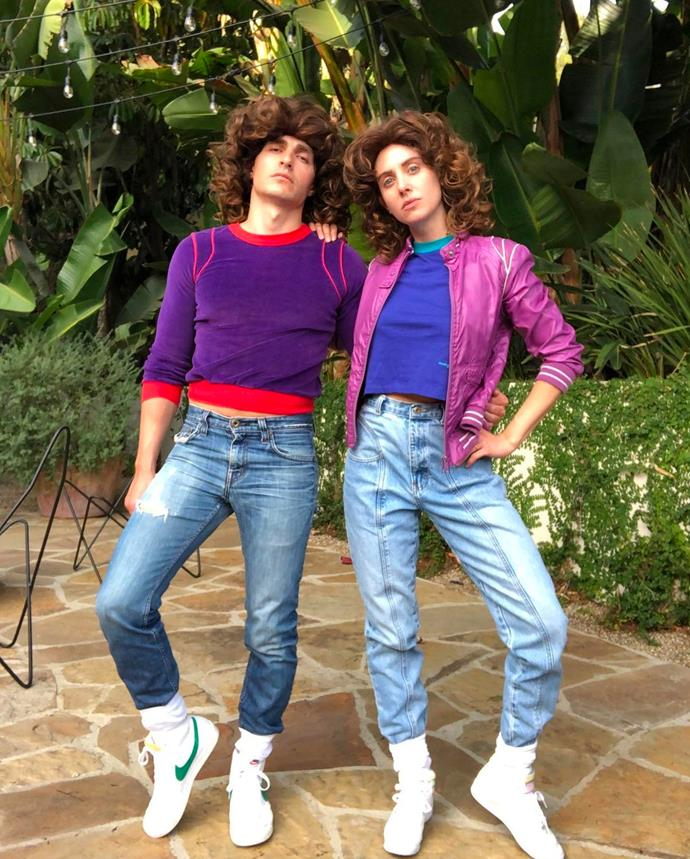 Alison Brie and Dave Franco as Ruth Wilder from *Glow*.