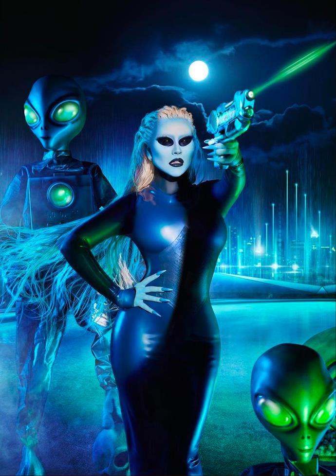 Christina Aguilera as an alien.