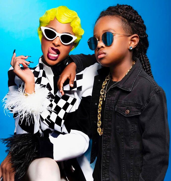 Ciara and her son Future as Cardi B and Offset.