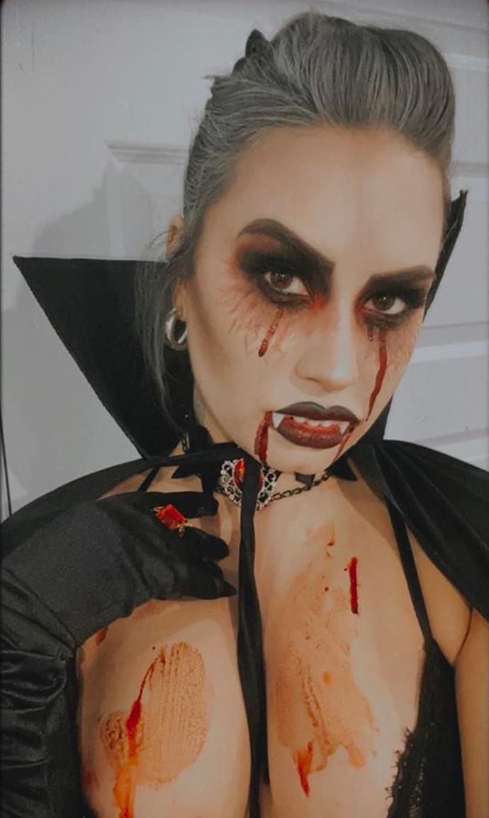 Demi Lovato as a vampire.