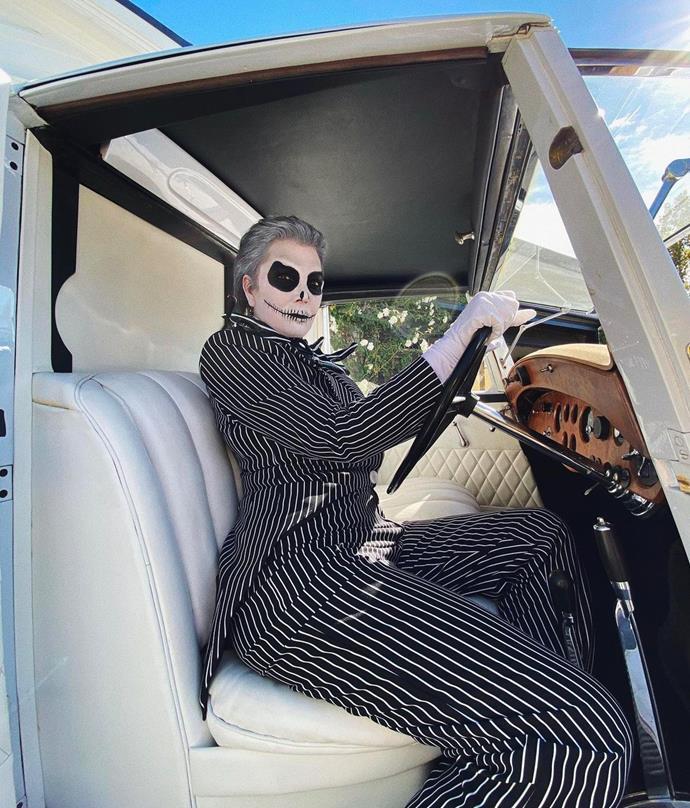 Kris Jenner as Jack Skellington from *The Nightmare Before Christmas*.