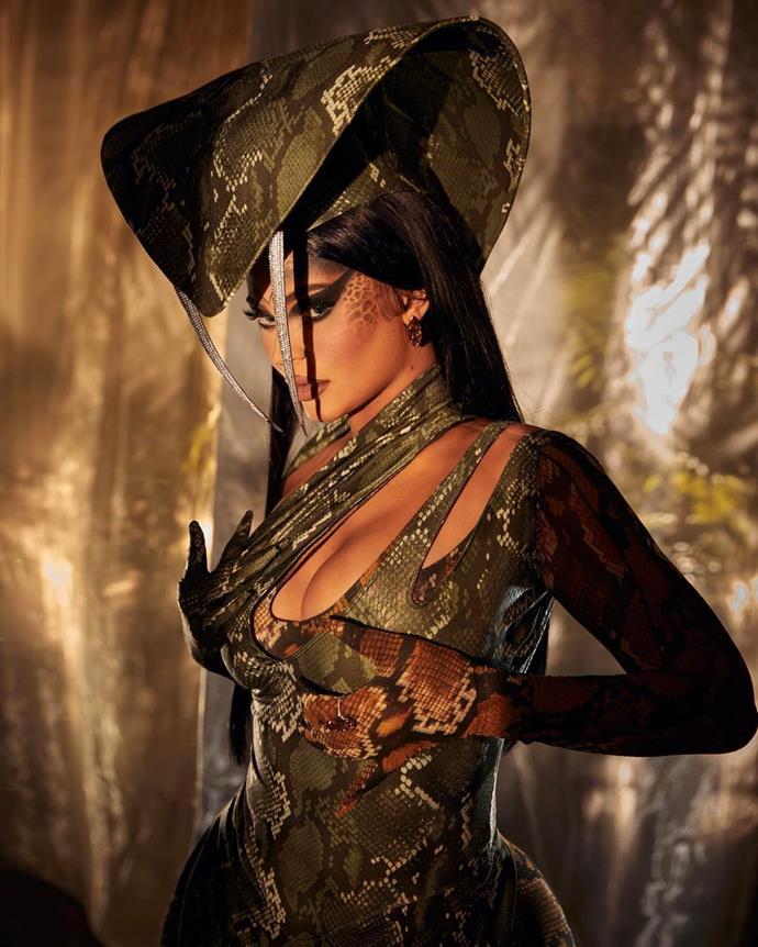 Kylie Jenner as King Cobra.