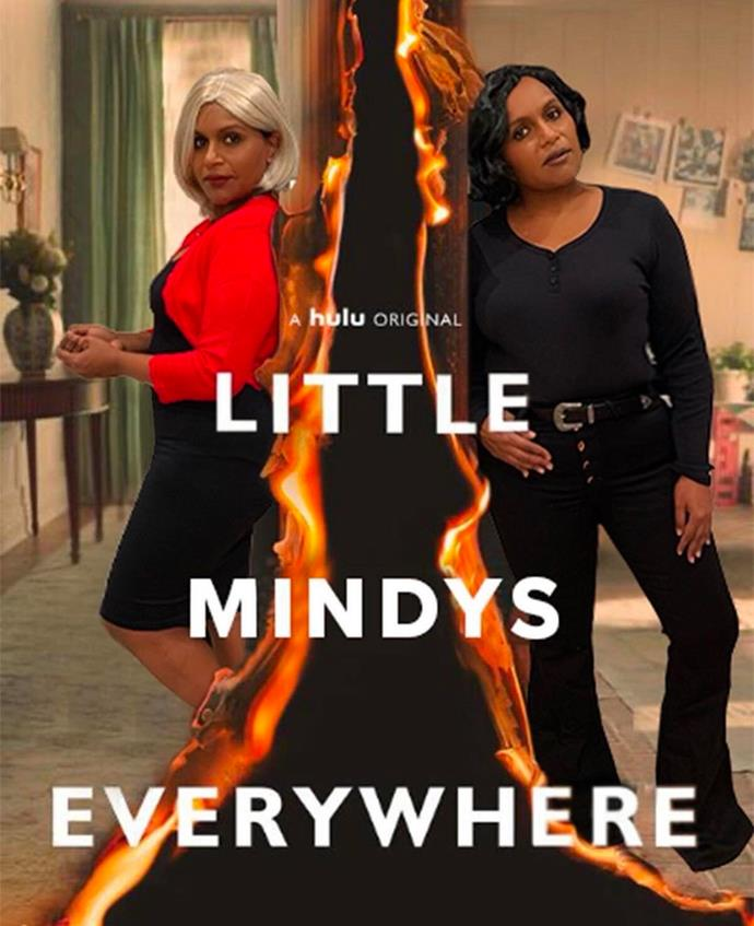 Mindy Kaling as Elena Richardson and Mia Warren from *Little Fires Everywhere*.