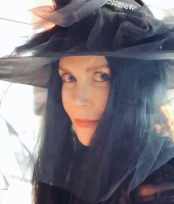 Nicole Kidman as a witch.