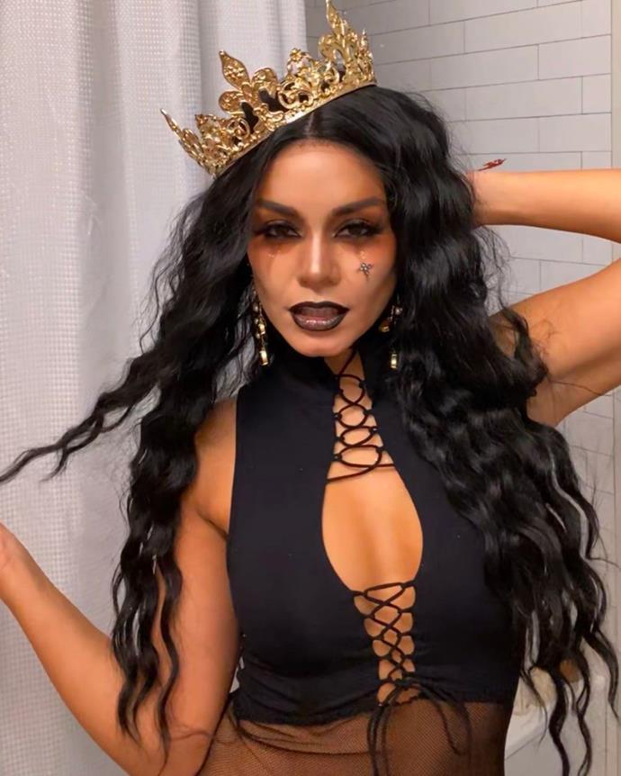 Vanessa Hudgens as a Halloween queen.