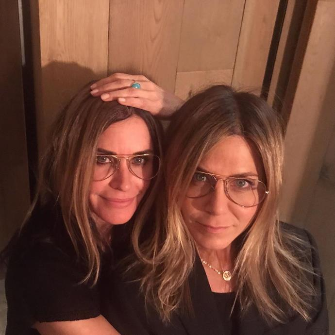 """***Friends*** <br><br> It's been 26 years since Friends ended, but fans can't get enough of seeing the characters reuniting in real life. Jennifer Aniston and Courteney Cox reunited for Aniston's 51st birthday back in February 2020, with Cox sharing [an Instagram post](https://www.instagram.com/p/B8cI3QrDME8/