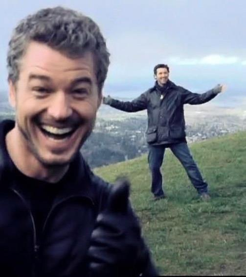 """***Grey's Anatomy*** <br><br> Amid the ongoing coronavirus pandemic, Eric Dane—who played Dr. Mark Sloan (AKA McSteamy) on *Grey's Anatomy*—posted a photo of himself and former costar Patrick Dempsey, who played Dr. Derek Shepherd (AKA McDreamy) on the show. <br><br> """"Blurry pic of how to hang out 6 feet apart,"""" Dane wrote on [his Instagram post](https://www.instagram.com/p/B_ks_cLFOJA/