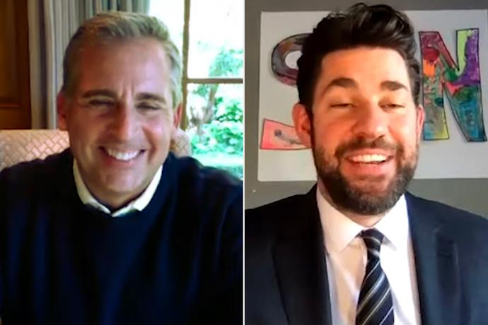"""***The Office*** <br><br> During the first episode of John Krasinksi's YouTube show *Some Good News* (SNG), he virtually welcomed Steve Carell, his former *The Office* co-star. <br><br> Krasinski and Carell, who played Jim Halpert and Michael Scott respectively on the iconic NBC sitcom, looked back on their favourite moments and shared behind-the-scenes details.  <br><br> """"Some of my most fond memories, personally or professionally, are entwined with that  show,"""" Carell shared."""