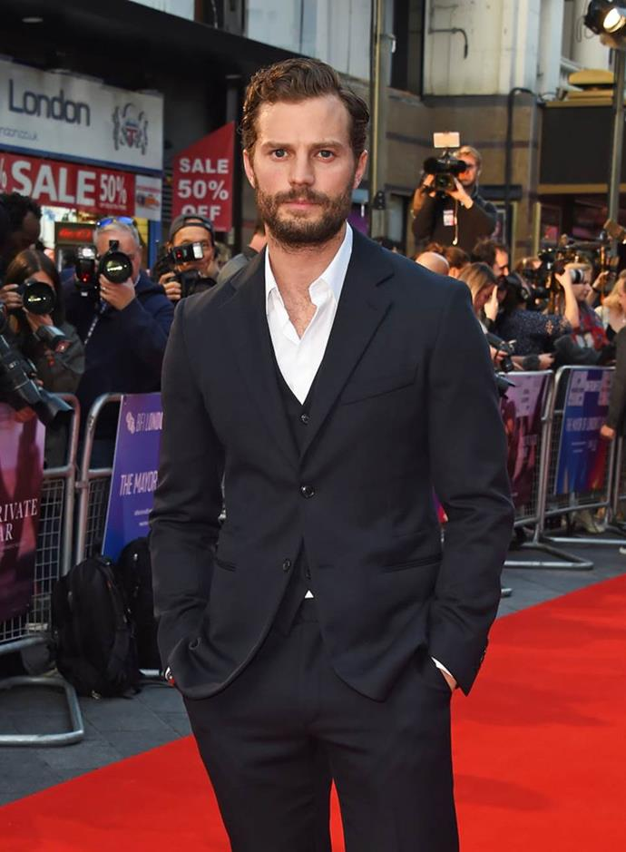 """**Jamie Dornan as Christian Grey in** ***Fifty Shades Of Grey***<br><br>  *Fifty Shades of Grey* may have garnered over AUD $850 million at the worldwide box office and propelled Northern Irish actor Jamie Dornan's name to fame, but the actor who played Christian Grey—a billionaire BDSM enthusiast who literally ropes a young woman into a dark sexual relationship—publicly admitted that he's not a character he'd befriend in real life.<br><br>  """"[He's] not the sort of bloke I'd get along with,"""" he said in a 2017 interview with *GQ* Australia (quote via [*People*](https://people.com/movies/jamie-dornan-nothing-like-christian-grey-bdsm/