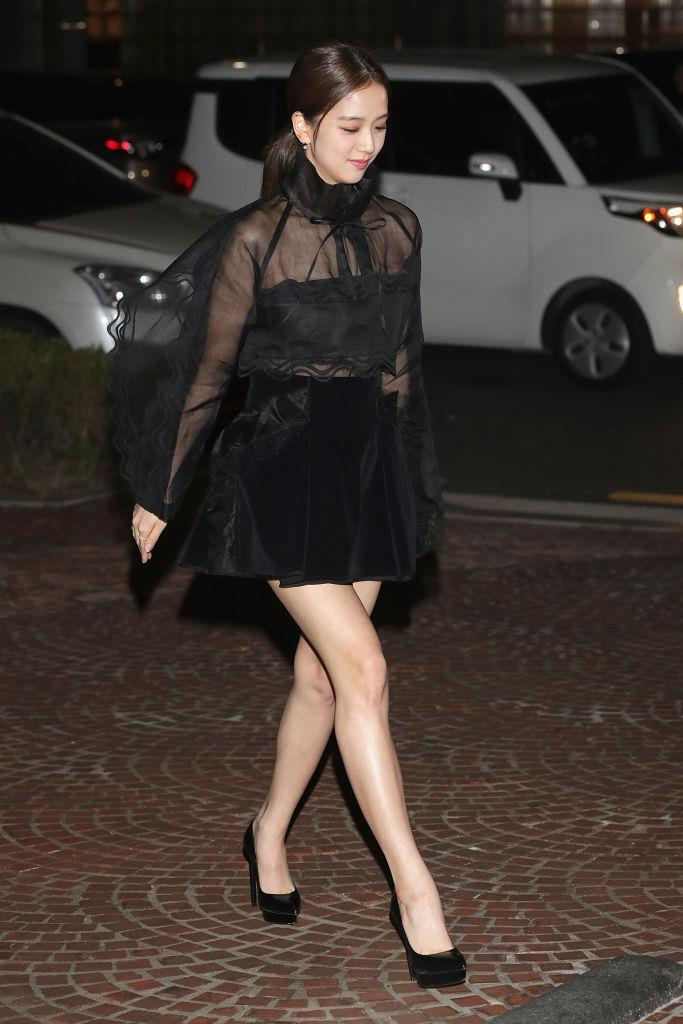 **Jisoo**<br><br>  Stepping out Seoul in billowing black lace in October 2018 in Seoul, South Korea.