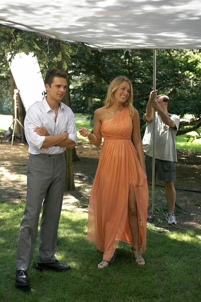 **THAT orange dress:** Remember when a moody, rebellious Serena tried to get her absent dad's attention by commandeering a horse at a polo event and riding it off with paparazzi photographers trailing behind? Yeah, she did that in this dress. Practical.