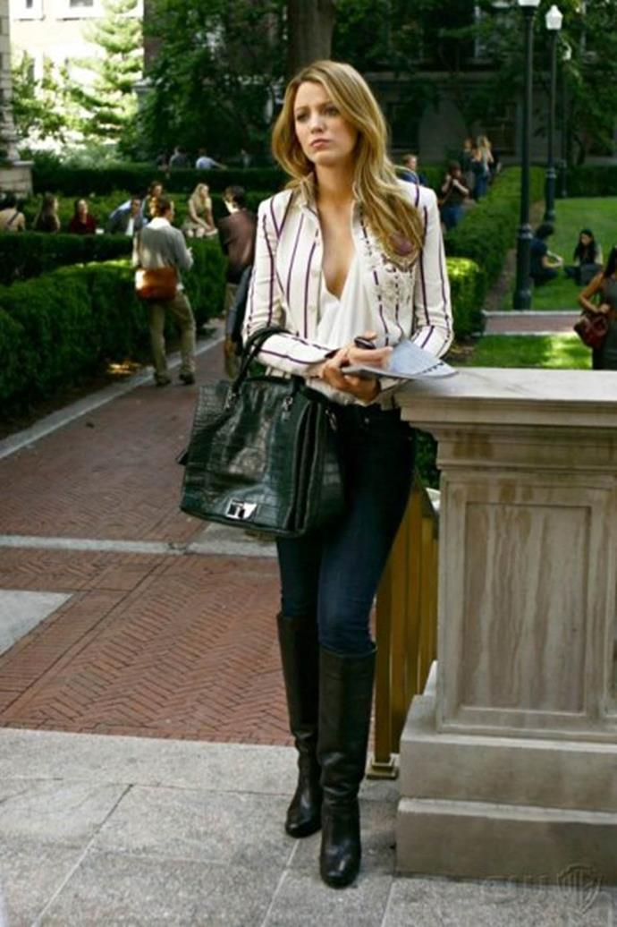 **Her collegiate look:** This look screams 'I'm deferring my first year but I still want you to know I'm smart enough to get into Brown'.