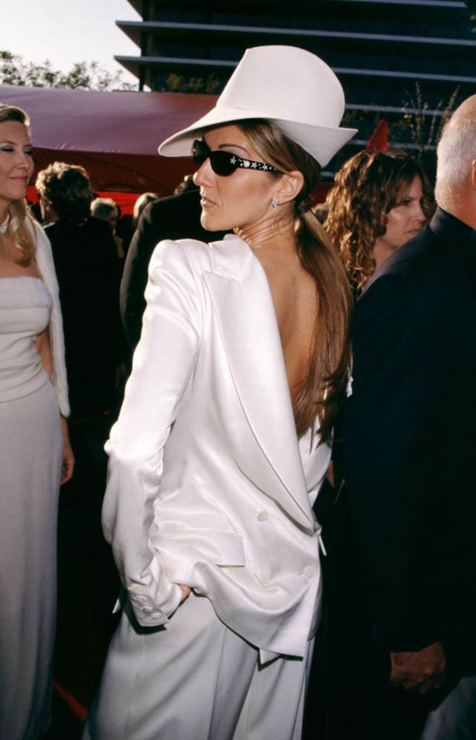 "**Celine Dion's backwards Dior suit at the Oscars (1999)** <br><br> If anything is true of [Celine Dion](https://www.harpersbazaar.com.au/fashion/celine-dion-moncler-20013|target=""_blank"")'s wardrobe aesthetic, it's that she's more than willing to take risks. However, few of her outfits are more iconic than the backwards Dior by John Galliano suit she wore to the 1999 Oscars, which she's even admitted was ahead of its time (despite being unfairly criticised in the moment). <br><br> ""When I wore that look, yes it was at the Oscars, and when I wore that, everyone was wearing dresses, not pants,"" the singer said in a 2017 interview with *[People](https://people.com/style/celine-dion-says-her-backwards-oscar-tux-was-ahead-of-its-time/