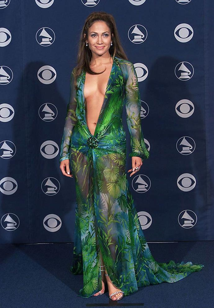 "**Jennifer Lopez's jungle print Versace dress at the Grammys (2000)** <br><br> At the 2000 Grammy Awards, Jennifer Lopez literally sparked the creation of Google Images with her iconic Versace jungle-print dress. Like almost all iconic fashion moments, Lopez has said the dress was an impromptu, last-minute decision. <br><br> In a 2020 interview with *[Vanity Fair](https://www.vanityfair.com/hollywood/2020/01/hollywood-portfolio-2020-jennifer-lopez|target=""_blank""
