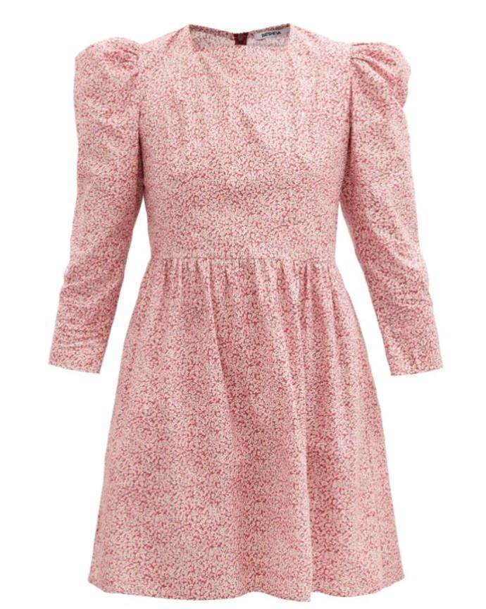 "Puff-Sleeve Mini Dress by Batsheva, $553 at [MatchesFashion](https://www.matchesfashion.com/au/products/Batsheva-Puff-sleeve-floral-print-cotton-mini-dress-1377504 target=""_blank"" rel=""nofollow"")."