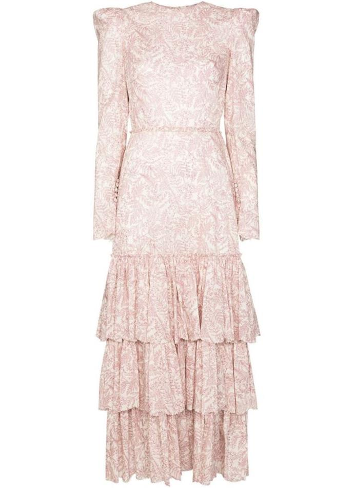 """Liberty Dress by The Vampire's Wife, $1,240 at [Farfetch](https://www.farfetch.com/au/shopping/women/the-vampires-wife-liberty-tiered-paisley-print-dress-item-15271309.aspx?storeid=9359