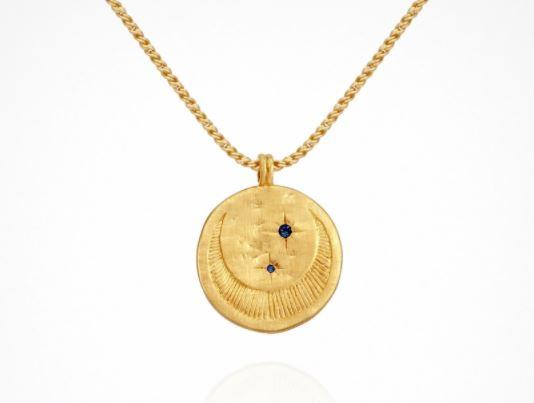 """Celeste Necklace, $159 by [Temple Of The Sun](https://templeofthesun.com.au/products/celeste-necklace-gold?variant=32360048193&currency=AUD&utm_medium=product_sync&utm_source=google&utm_content=sag_organic&utm_campaign=sag_organic