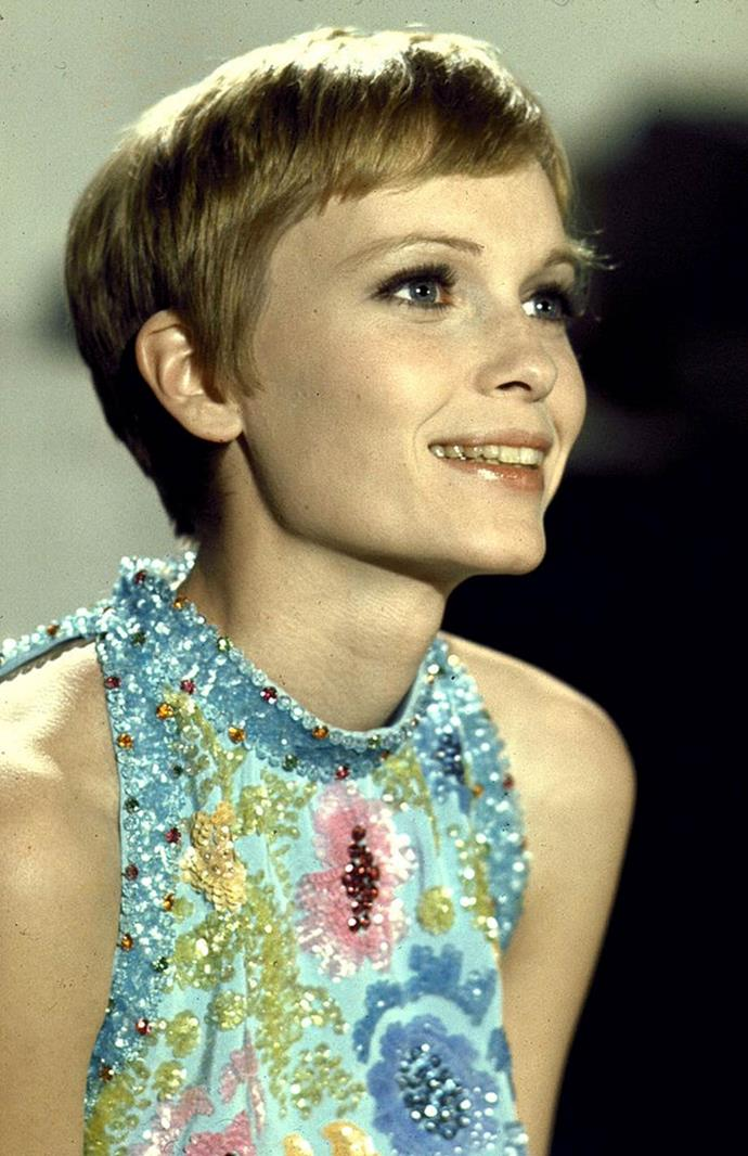 **1967: The pixie cut**<br><br>  Mia Farrow's pixie cut in *Rosemary's Baby* remains one of the most iconic, trend-setting hairstyles to date.