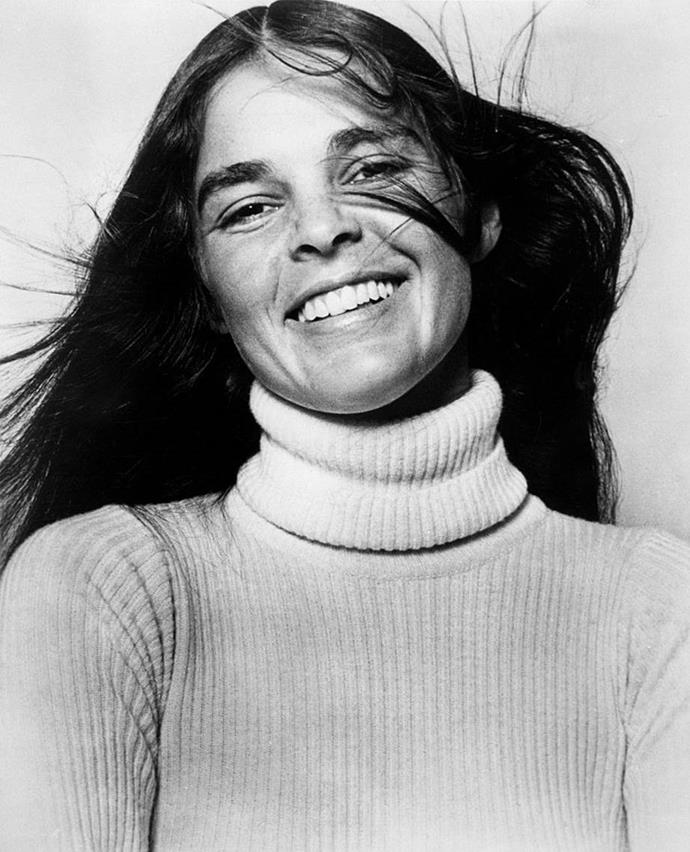 **1971: The centre part**<br><br>  Seventies 'It'-girl Ali MacGraw rose to prominence as an actress early in the decade, simultaneously making her signature centre part one of the most coveted beauty looks of the era.