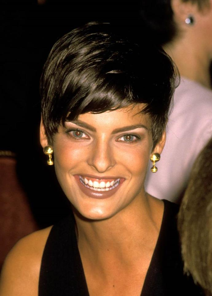 """**1989: Linda Evangelista's pixie cut**<br><br>  Linda Evangelista not only revived the public's penchant for the pixie cut, but saw her entire [career skyrocket because of the style](https://www.harpersbazaar.com.au/beauty/models-career-making-haircuts-11978