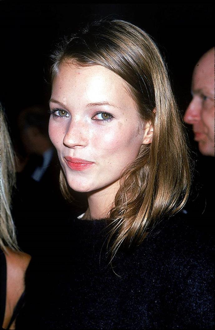 **1993: The bare face**<br><br>  The no makeup-makeup took an even more stripped back turn in 1993, as the bare face à la Kate Moss became the preferred take on the trend (save for the occasional lick of eyeliner).
