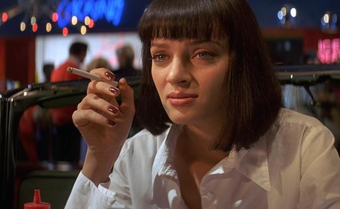 """**1994: CHANEL's 'Vamp' nail polish**<br><br>  CHANEL's famous 'Vamp' nail polish, a reddish-black hue originally called 'Rouge Noir', rose to popularity after Uma Thurman sported the shade in *Pulp Fiction*. Interestingly, the famous colour was [apparently](https://www.interviewmagazine.com/fashion/heidi-morawertz#_