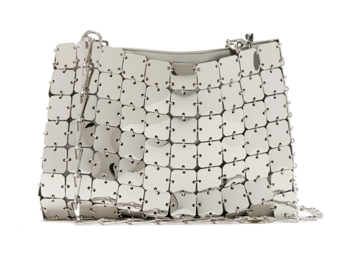 """Iconic 1969 Chain Bag by Paco Rabanne, $1,101 at [MatchesFashion](https://www.matchesfashion.com/au/products/Paco-Rabanne-Iconic-1969-chain-bag-1324553