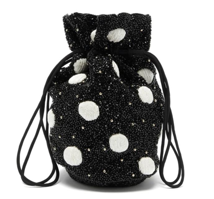 "Hand-Beaded Purse, $475 by [GANNI](https://www.ganni.com/en-au/hand-beaded-accessories-purse-A2683.html?dwvar_A2683_color=Black|target=""_blank""|rel=""nofollow"")."