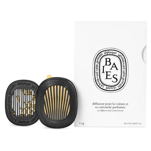 """'Car Diffuser With Baies Insert' by Diptyque, $147 at [Mecca](https://www.mecca.com.au/diptyque/car-diffuser-with-baies-insert/I-036333.html?cgpath=gifts-giftguide-shopbycategory-thefantasyoffragrance