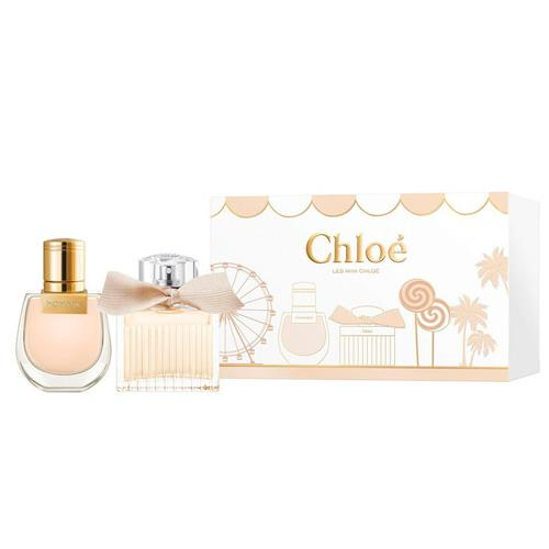 "'Duo Mini Gift Set Eau de Parfum and Nomade Eau de Parfum' by Chloé, $110 at [Myer](https://www.myer.com.au/p/chlo-201-duo-mini-gift-set-chlo-233-eau-de-parfum-and-nomade-eau-de-parfum?istCompanyId=84873db0-394f-434b-8958-29526fe5f03c&istFeedId=3dd6959f-3482-45a5-8a47-313fef9bbe16&istItemId=ipllwllrp&istBid=t&gclsrc=aw.ds&https://clickserve.dartsearch.net/link/click?lid=92700056458267055&ds_s_kwgid=58700006214955130&ds_s_inventory_feed_id=97700000003318192&ds_a_cid=130142812&ds_a_caid=10691487566&ds_a_agid=108283703169&ds_a_fiid=&ds_a_lid=pla-939576317716&ds_e_adid=457706828096&ds_e_matchtype=search&ds_e_device=c&ds_e_network=g&ds_e_product_group_id=939576317716&ds_e_product_id=762348970&ds_e_product_merchant_id=100375023&ds_e_product_country=AU&ds_e_product_language=en&ds_e_product_channel=online&ds_e_product_store_id=&ds_url_v=2&ds_dest_url=https://apiservices.krxd.net/click_tracker/track?kxconfid=s1twtnvge&kxcampaignid=71700000070428130&kxadid=&kxsiteid=GOOGLE&clk=https://www.myer.com.au/p/chlo-201-duo-mini-gift-set-chlo-233-eau-de-parfum-and-nomade-eau-de-parfum?istCompanyId=84873db0-394f-434b-8958-29526fe5f03c&istFeedId=3dd6959f-3482-45a5-8a47-313fef9bbe16&istItemId=ipllwllrp&istBid=t&gclid=Cj0KCQiA7qP9BRCLARIsABDaZziwckO0DAmwumZFjdt5yZjmCd7HSDfJAx4zqtFkQl66QtuYUVdApiMaAjocEALw_wcB&gclsrc=aw.ds|target=""_blank""|rel=""nofollow"")."