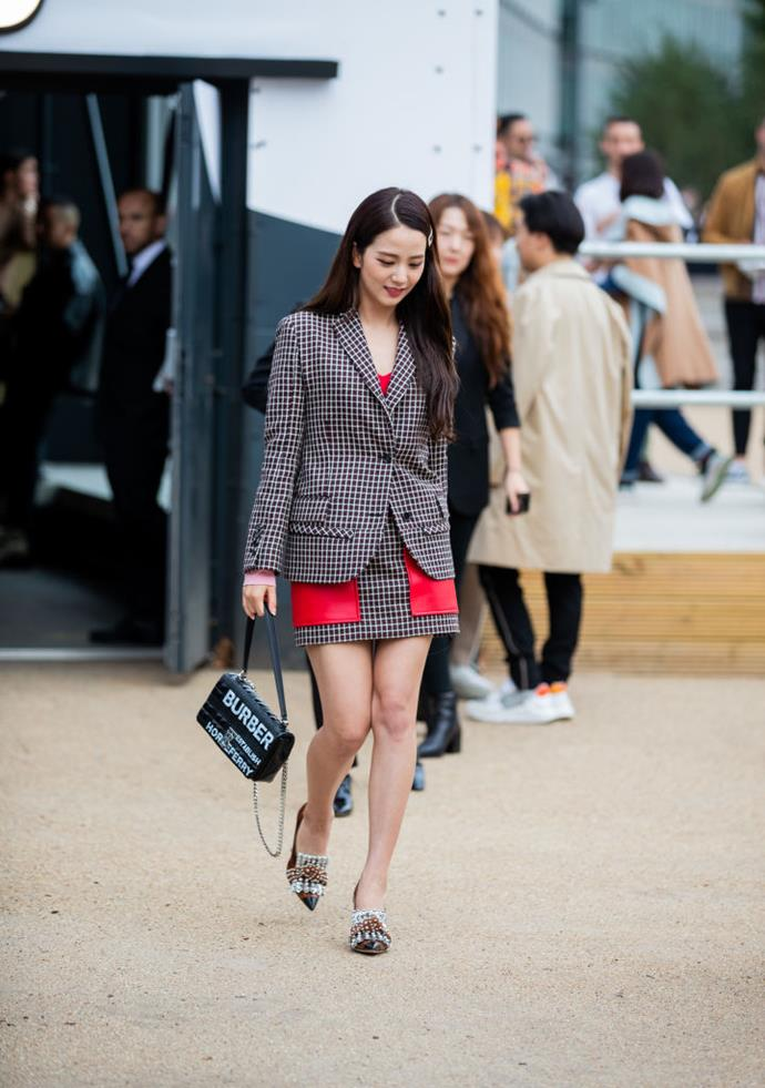 **Jisoo**<br><br>  Spotted in a matching set while attending London Fashion Week September 2019 in September 2019.