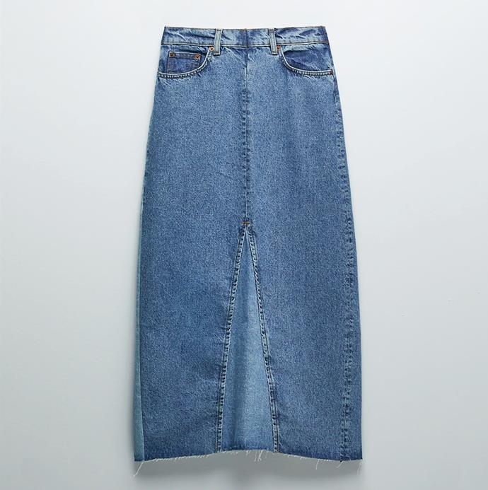 "'ZW Premium The '90s Skirt', $109 at [ZARA](https://www.zara.com/au/en/zw-premium-the--90s-skirt-p08246059.html?v1=51068959|target=""_blank""|rel=""nofollow"")."