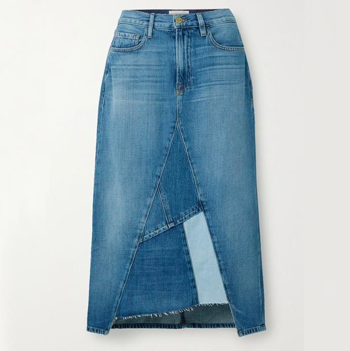 "'Le Midi Skirt Patch Work' by FRAME, $377.46 at [Shopbop](https://www.shopbop.com/midi-skirt-patch-work-frame/vp/v=1/1538192749.htm?fm=search-viewall-shopbysize&os=false&ref_=SB_PLP_NB_42|target=""_blank""|rel=""nofollow"")."