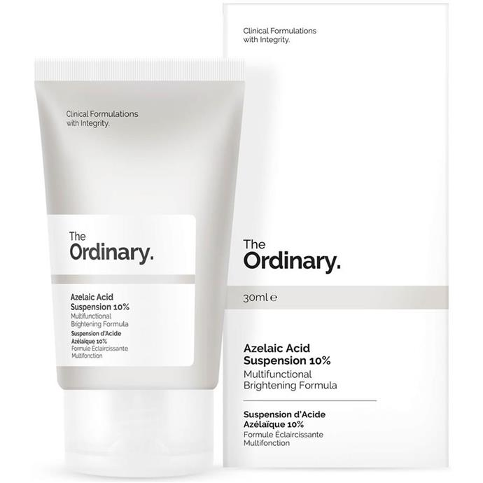 "The Ordinary Azelaic Acid Suspension 10% 30ml, $49.99 at [Amazon](https://fave.co/3ngKZcj|target=""_blank""