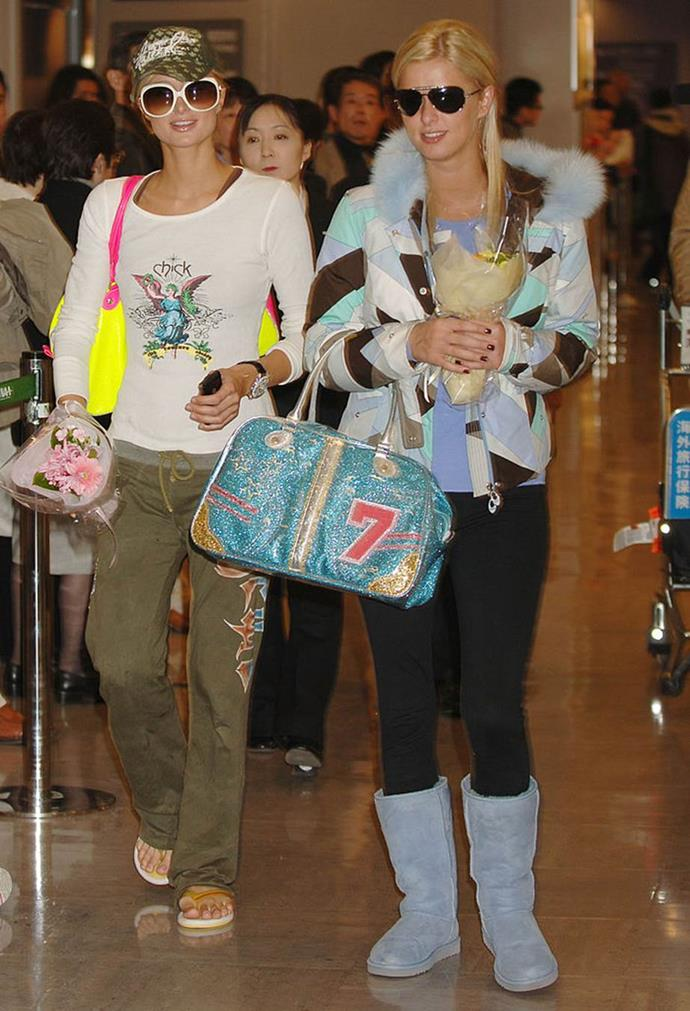 Paris Hilton and Nicky Hilton in 2005.